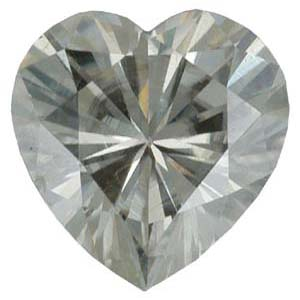 Gemstones > Moissanite > Heart